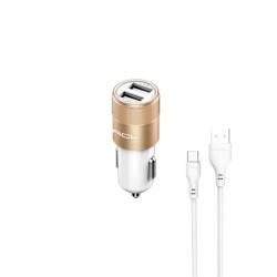 Mikro Araç İçi Şarj Aleti, 12V+24V, 5W, USBx2 - 1.6A
