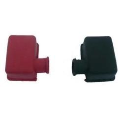 Akü Kutup Başı Koruyucu Kapakları, Siyah+Kırmızı, Takım