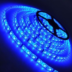 12V - Mavi, Silikonlu, Metrelik Şerit Led Ampul, 5 Metre